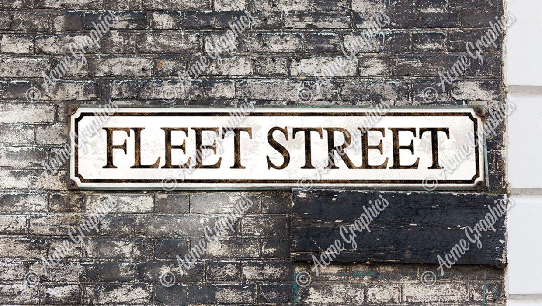 Fleet Street Road Sign prop