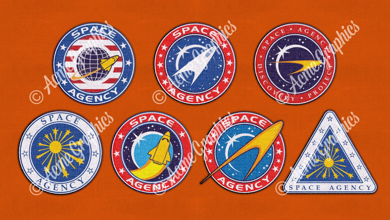 Nasa style badges specsavers
