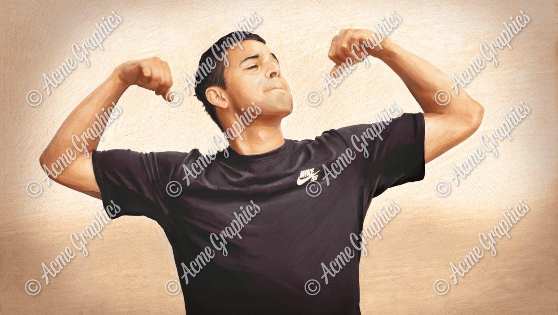 Nike painting 8 sepia final (1)