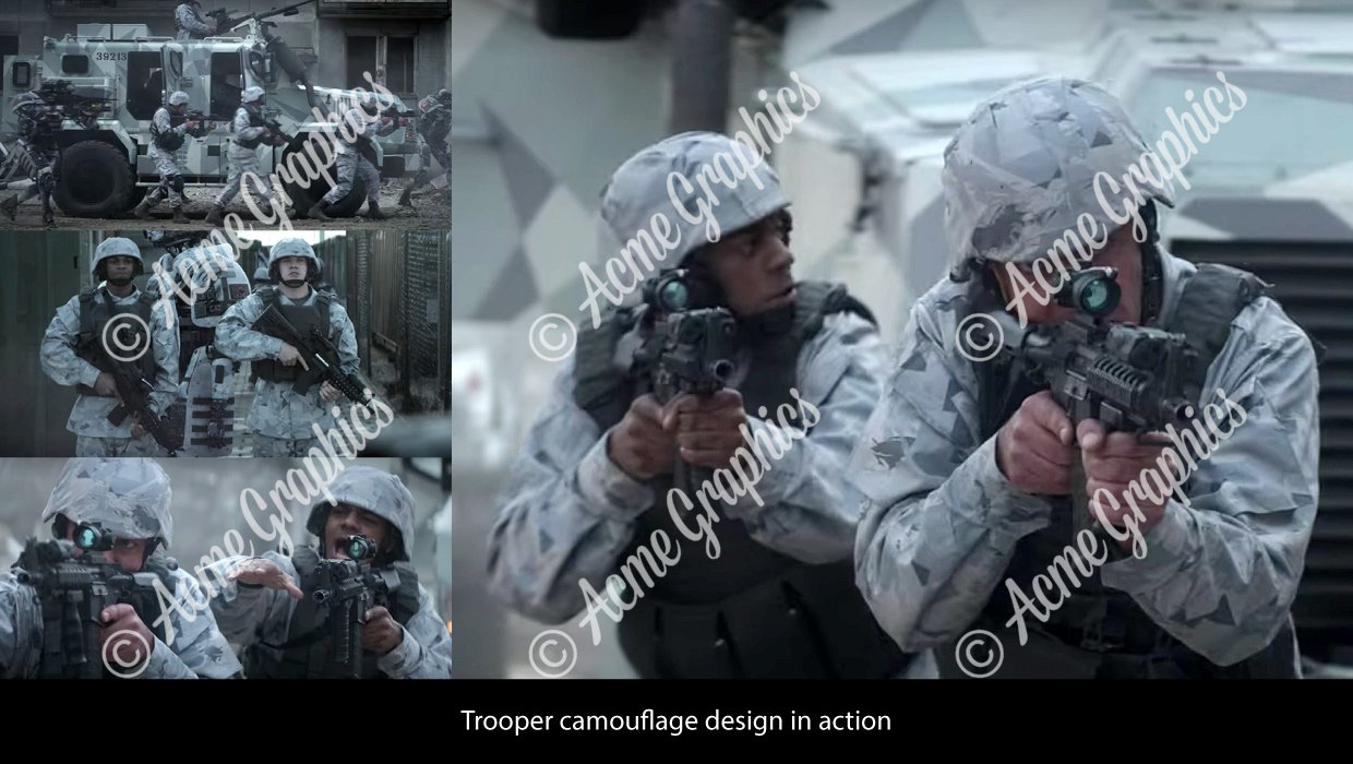 Outside the wire camouflage design screenshots