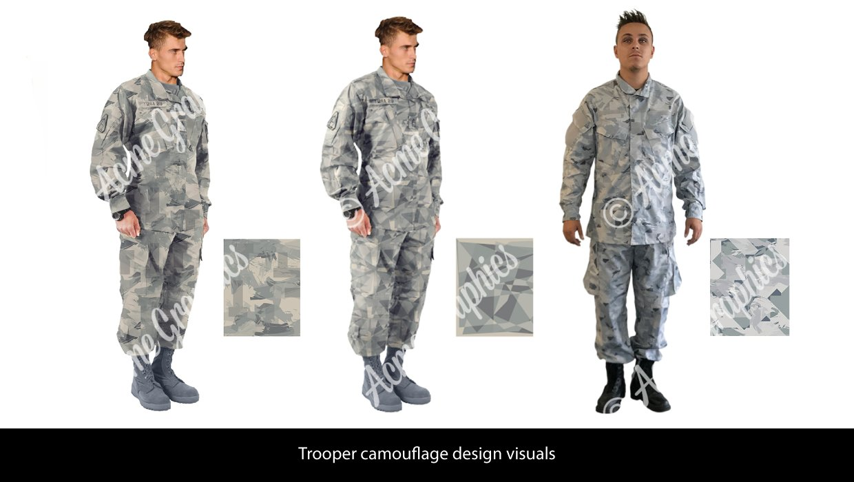 Outside the wire camouflage costume design