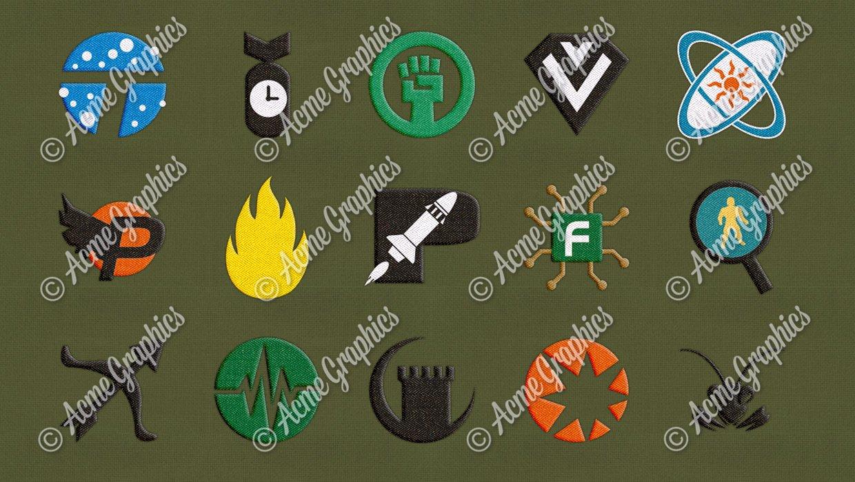 Superhero badges