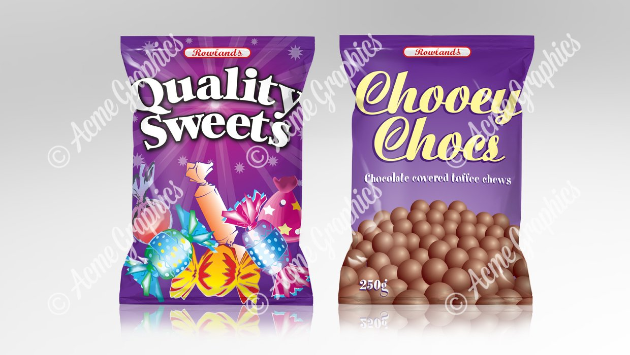 Chocolate sweet packets