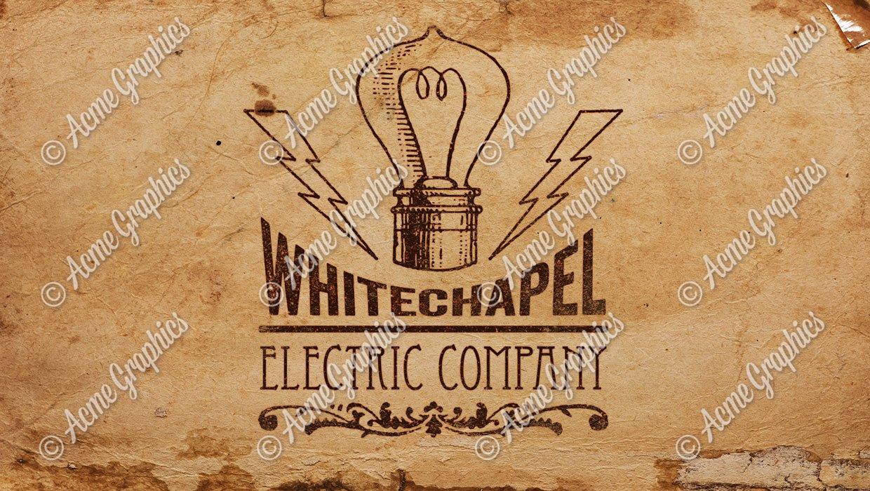vintage electric company logo design