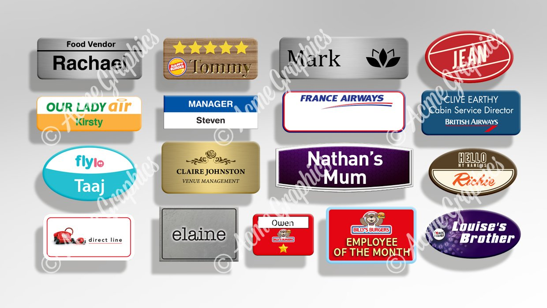 Work name badges