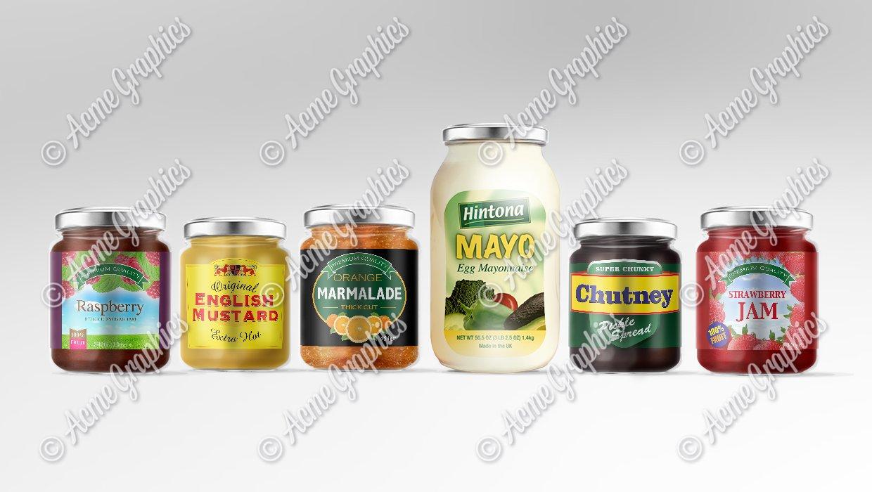 assorted jars