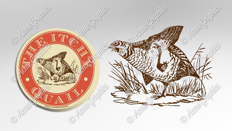 Itchy quail logo character