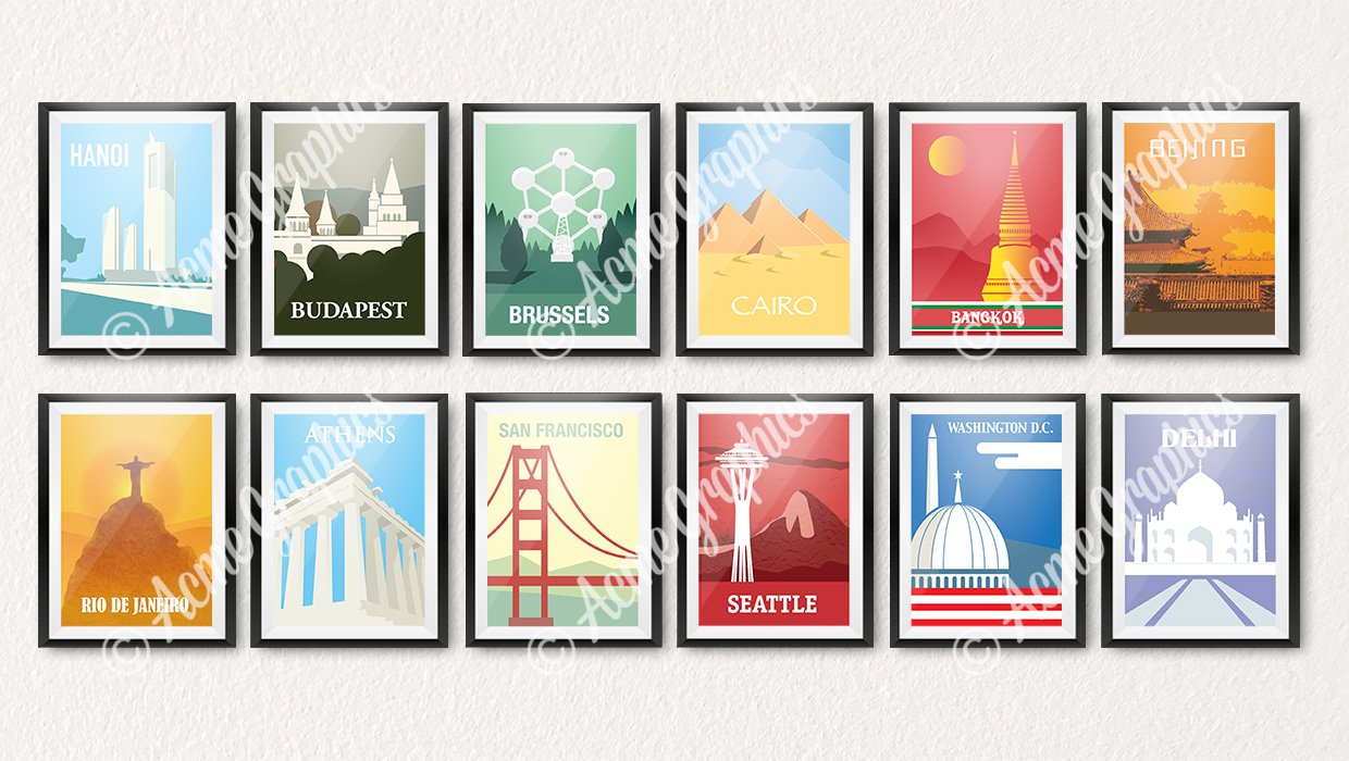 Travel poster collection small