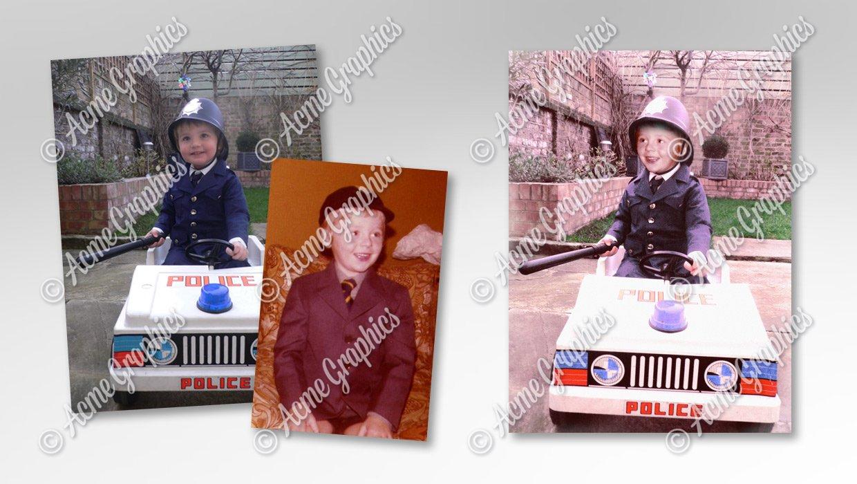 Simon Pegg as child photo edit