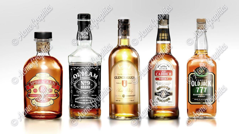 Whiskey bottle labels