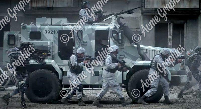 Military vehicle camo design