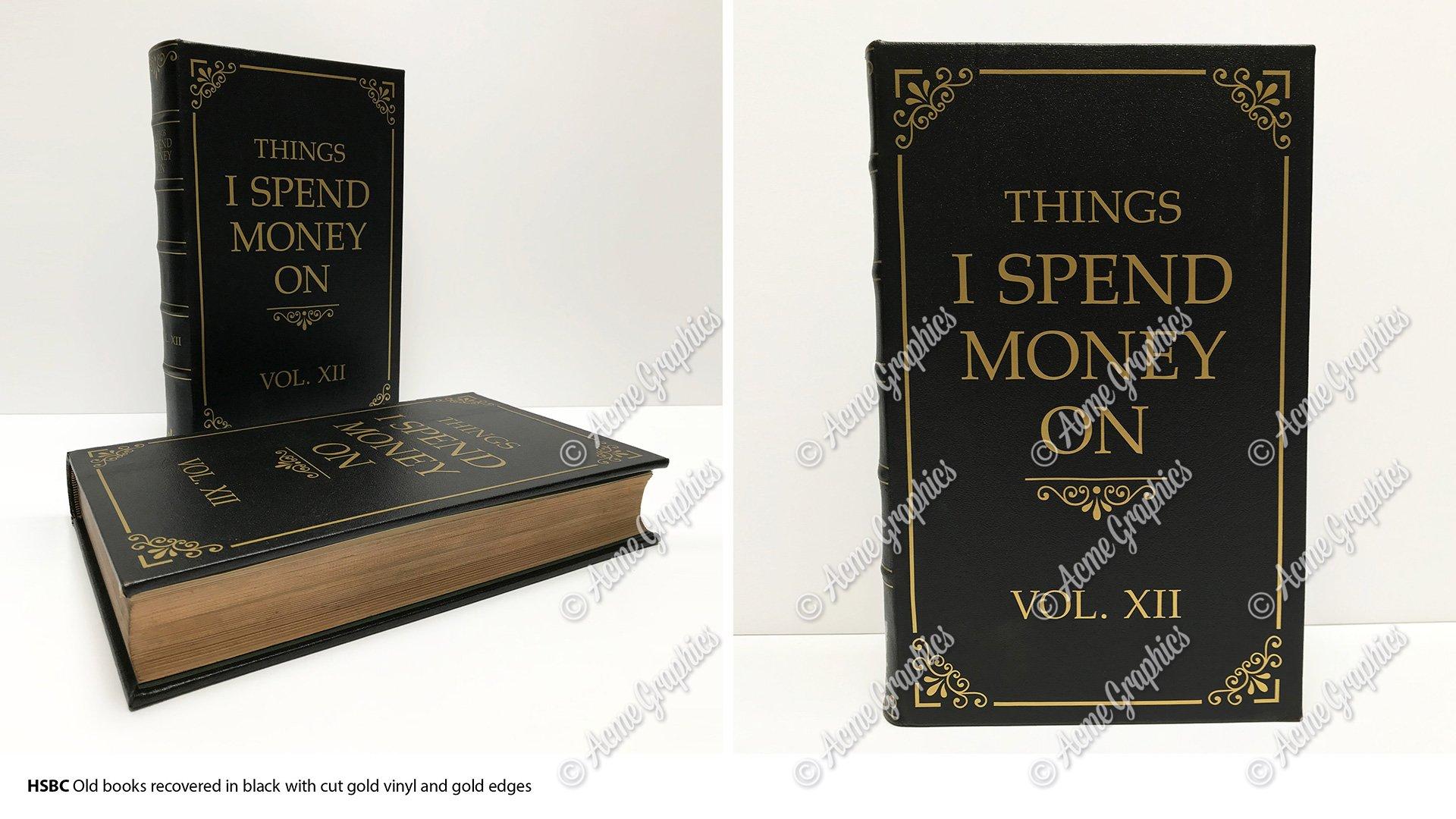 Book binding for bank advert