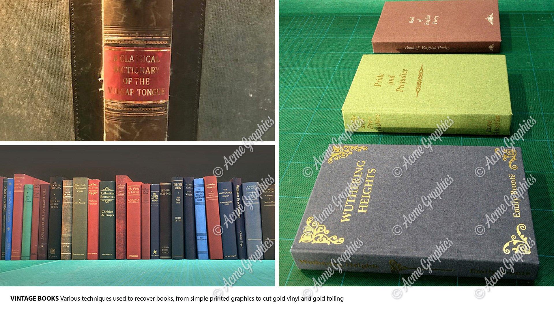 Period book binding props