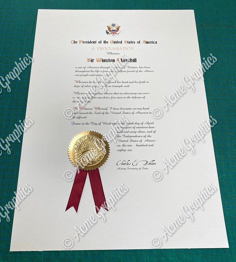 Period certificate prop