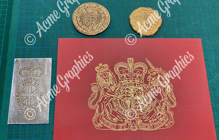 Engraving and debossing props